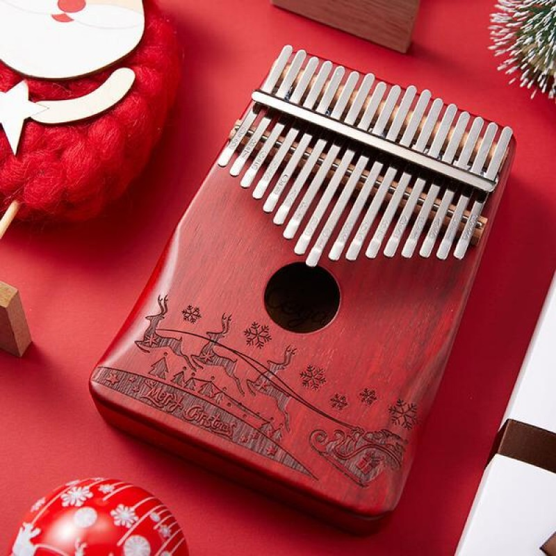 Christmas Design 17 Keys Kalimba | red Color