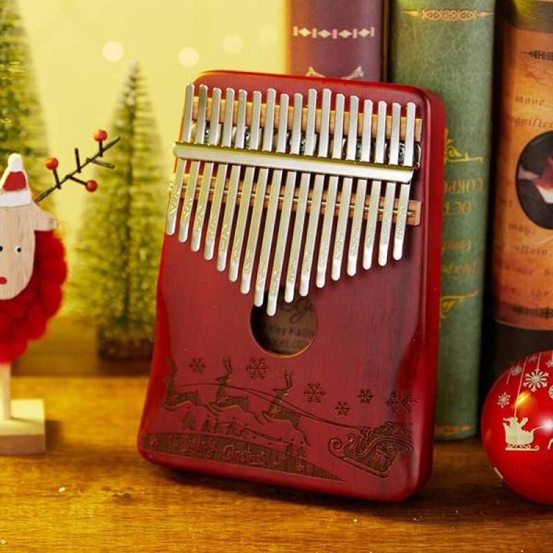 Christmas Design 17 Keys Kalimba | red Color