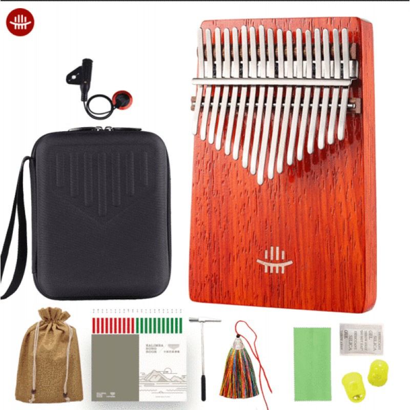 Hluru 17/21 Keys Kalimba Redwood with Carry Box | ...