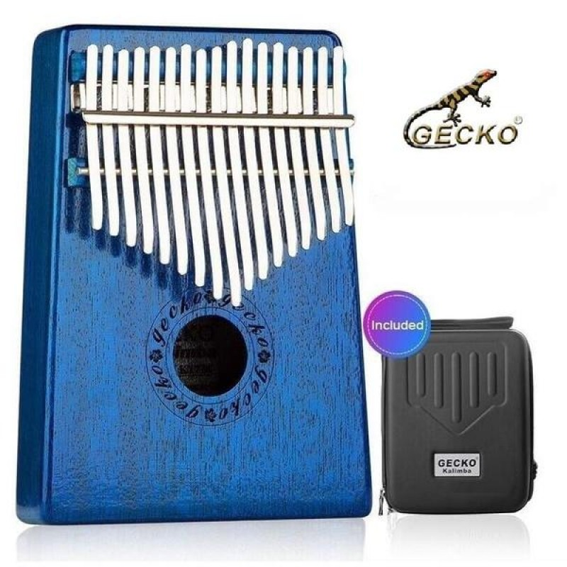 Gecko 17 Keys Kalimba With EVA Carry Box | Blue