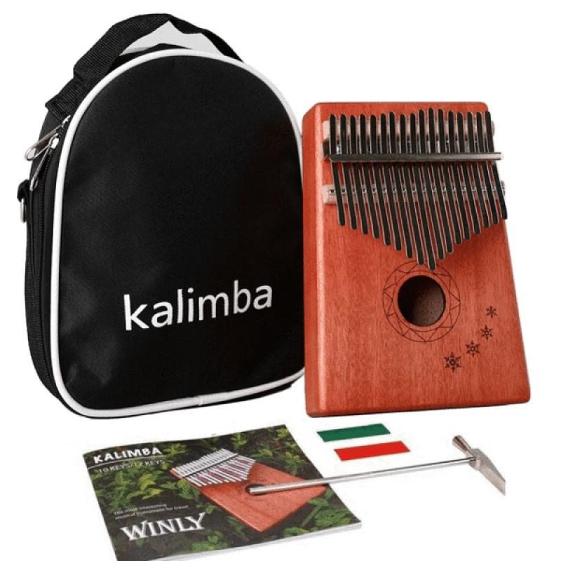 Mahogany Wood Kalimba | Snow