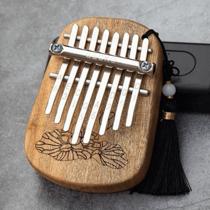 GECKO 8 Key Mini Kalimba With Tassel
