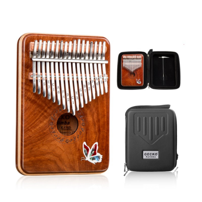 New Arrival | Gecko Hand-inlaid Butterfly Kalimba