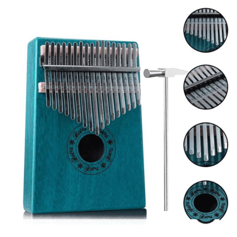 Kalimba Thumb Piano 17 Key -Blue