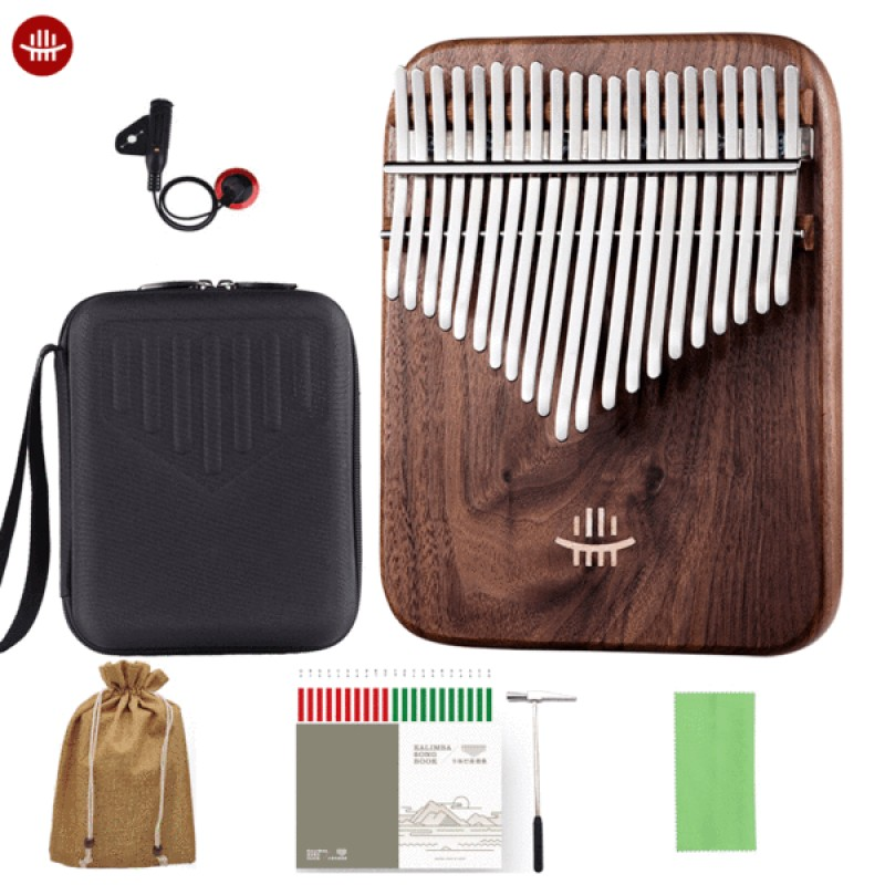 Hluru 21 Keys Board Kalimba | Black Walnut Class A