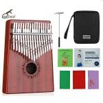 GECKO 17 Key Mahogany Kalimba Red | C Tone