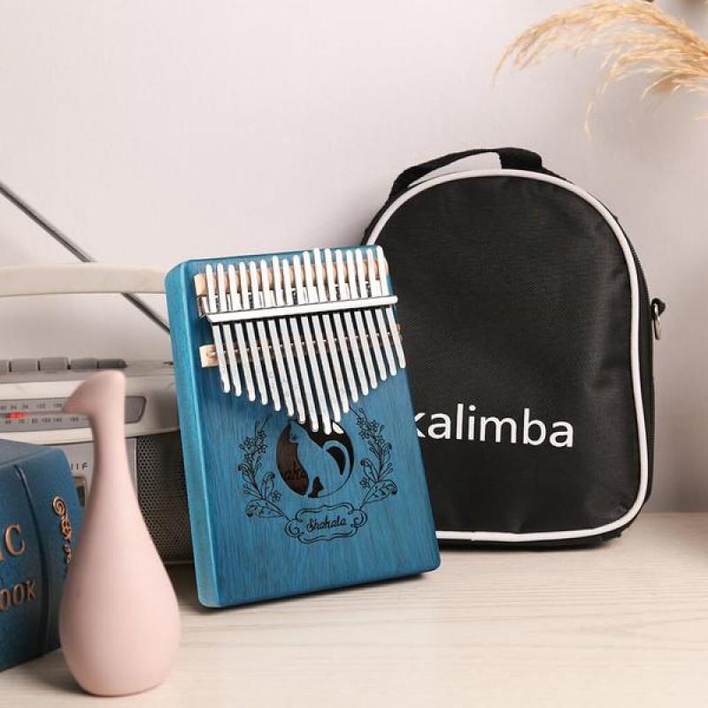 17 Keys Kalimba Cat In Blue