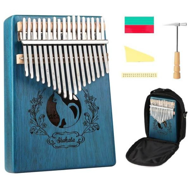 17 Keys Kalimba Cat In Blue