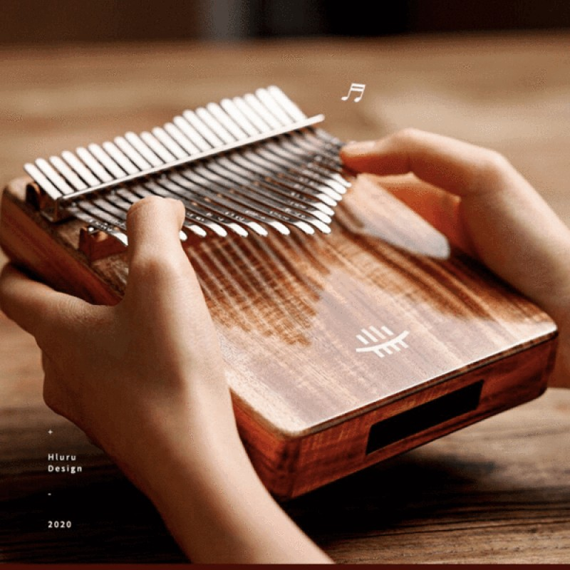 Hluru 21 Keys resonance Kalimba RoseWood & KOA Woo...